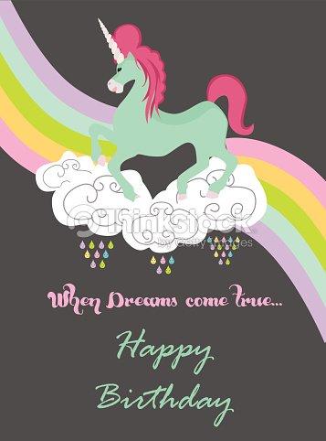 Magic Birthday Card Vector Art Thinkstock