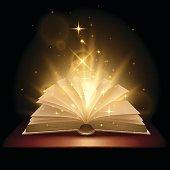 Magic book illustration in vector