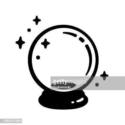 Magic crystal ball : stock vector