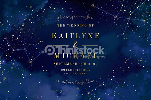Magic night dark blue sky with sparkling stars vector wedding in : stock vector