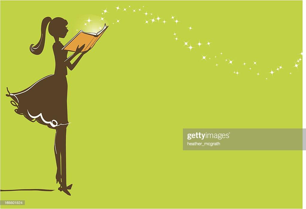 Magic of Reading : Vector Art