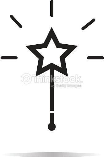 Magic Wand Icon On White Background Magic Wand Sign Vector Art
