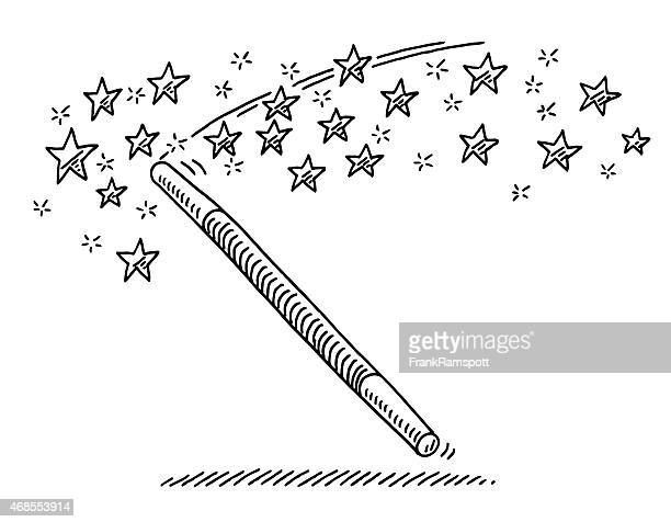 Magic Wand Stars Drawing