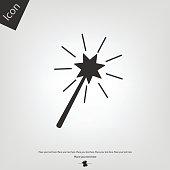Magic wand vector icon