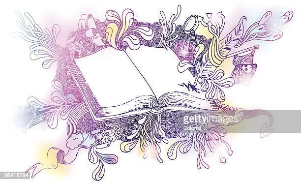 Magical fantasy storybook