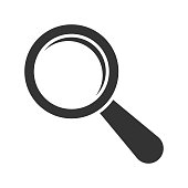 Magnifying glass icon. Vector illustration. Eps 10.