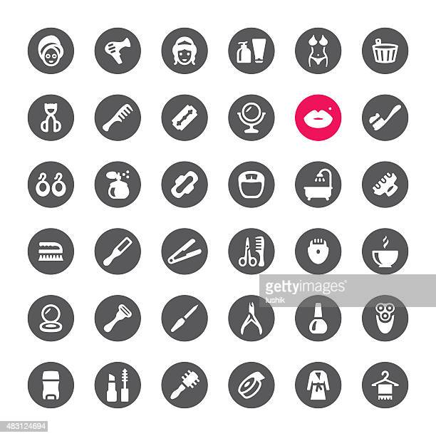 Make-Up and Beauty vector icons