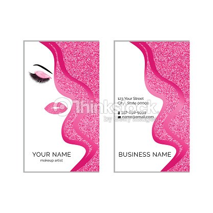 Modele Vectoriel De Maquillage Artiste Carte Visite