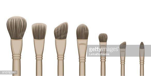 makeup brush vector - photo #36