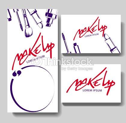 Carte De Visite Pour Le Maquillage Clipart Vectoriel