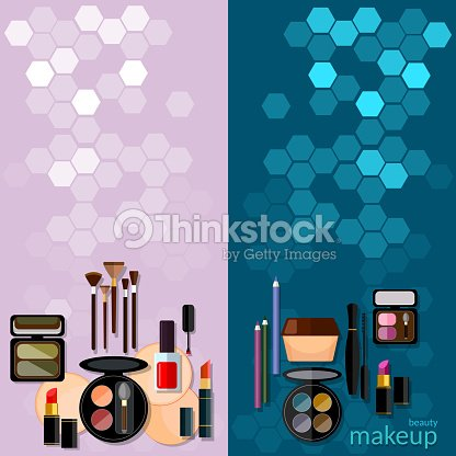 Makeup fashion concep professional make-up banners