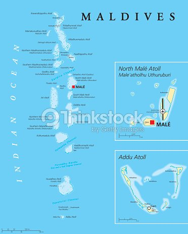 Maldives Political Map Vector Art | Thinkstock