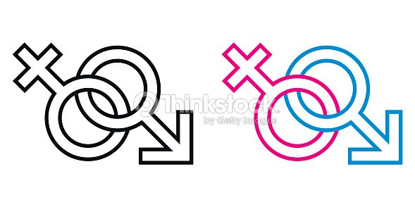 Male And Female Symbol Set The Gender Relations Between Man And