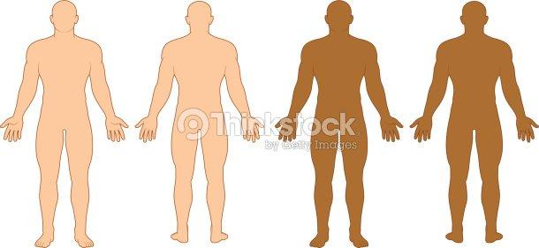 Male Body Outline Vector Art