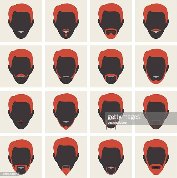 Male Facial Hair Avatars