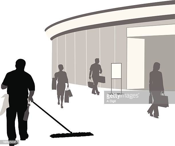 Mall Jobs Vector Silhouette