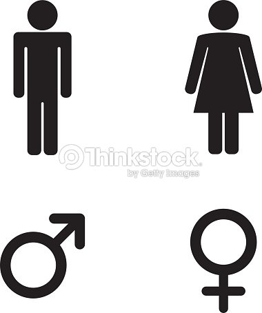 Man and woman toilet sign and male and female symbols   Vector Art. Man And Woman Toilet Sign And Male And Female Symbols Vector Art