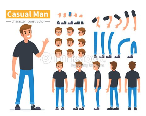 man character : stock vector