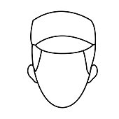 man face character people contour image vector illustration