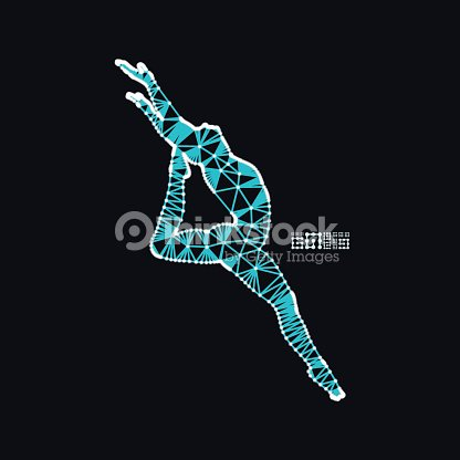Man Is Posing And Dancing Silhouette Of A Dancer 3d Model Of Man