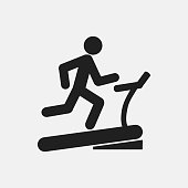 Man on treadmill icon illustration isolated vector sign symbol
