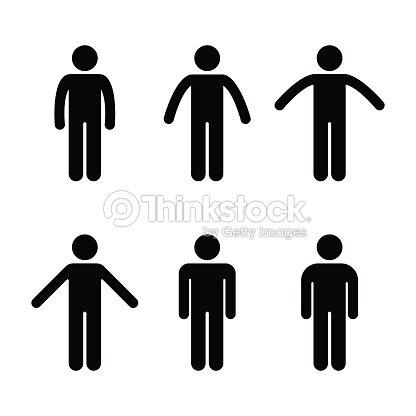 personas pie vario la posición del hombre figura del palillo de