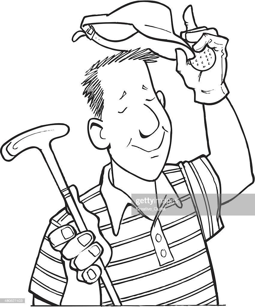 Man Pro Golfer : Vector Art