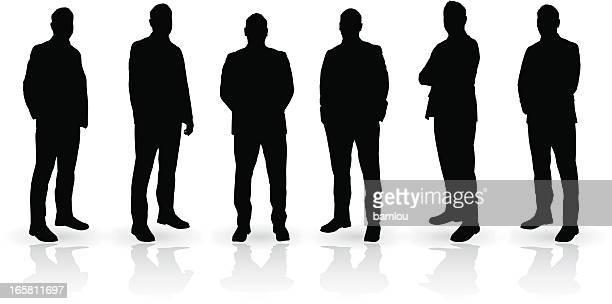 Homme silhouette ensemble
