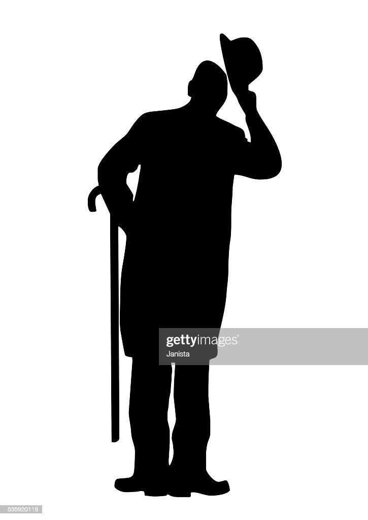 man, silhouette : Vector Art