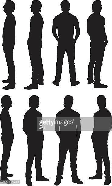 Mann stehend in verschiedenen Ausblick