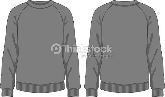 Man Sweatshirt Vector Template Vector Art | Thinkstock