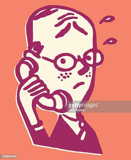 Man Talking on the Telephone
