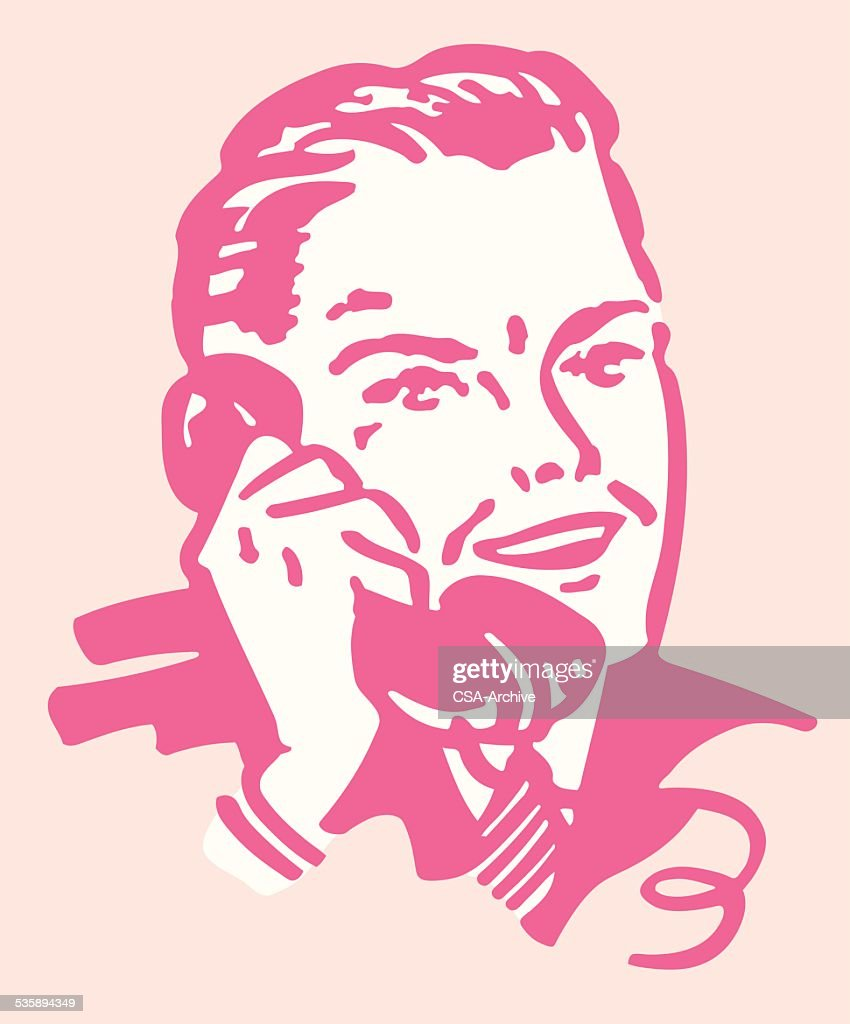 Man Talking on the Telephone : Vector Art