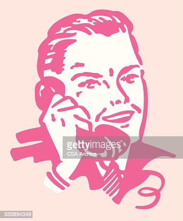 Man Talking on the Telephone : Vector Art