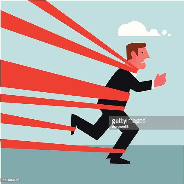 Man trying to run
