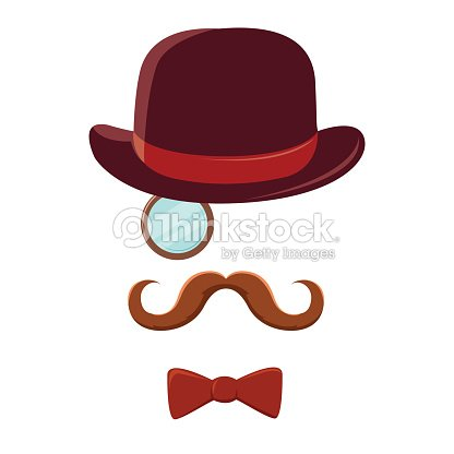 Man with mustache top hat and bow tie vector art thinkstock man with mustache top hat and bow tie vector art voltagebd Choice Image