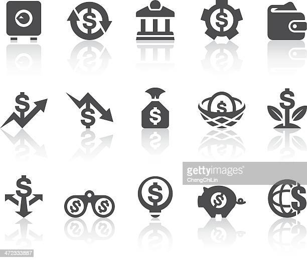 Manage Finances Icons | Simple Black Series