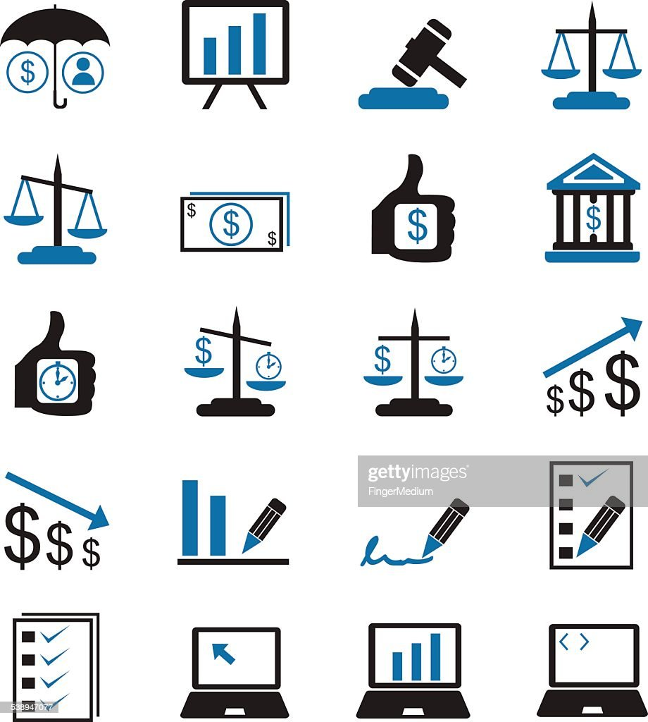 Management Icon Set Vector Art | Getty Images