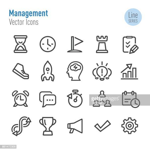 Management-Icons - Vektor-Line-Serie