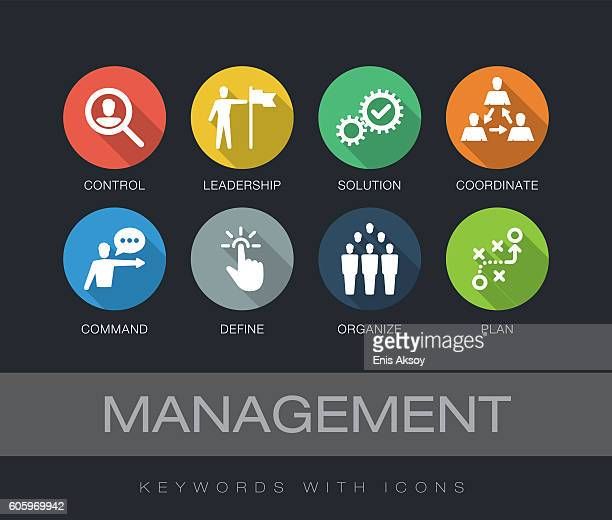 Management keywords with icons