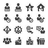 CEO,manager icon set