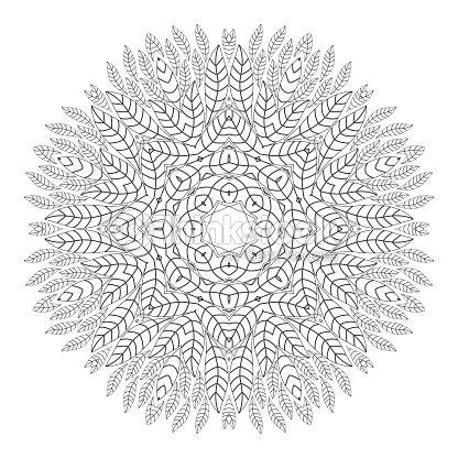 Mandala Antiestrés Para Colorear Para Adultos Arte vectorial ...
