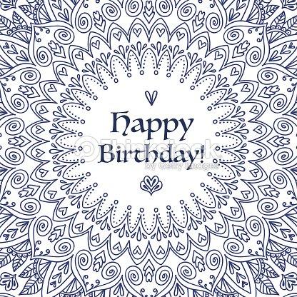 Mandala carte danniversaire clipart vectoriel thinkstock - Mandala anniversaire ...