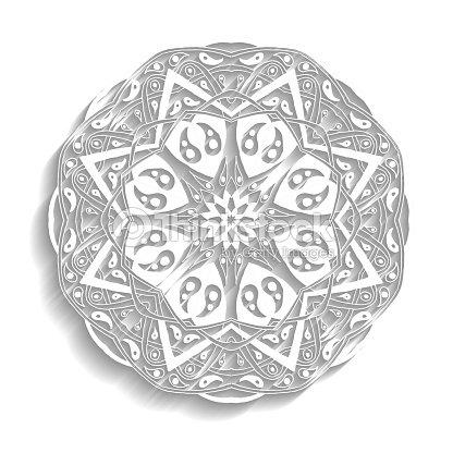 Mandala Floral Ethnic Abstract Decorative Elements Vector Art ...
