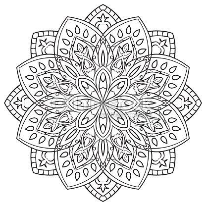 Mandala Para Colorear Libro Arte vectorial | Thinkstock