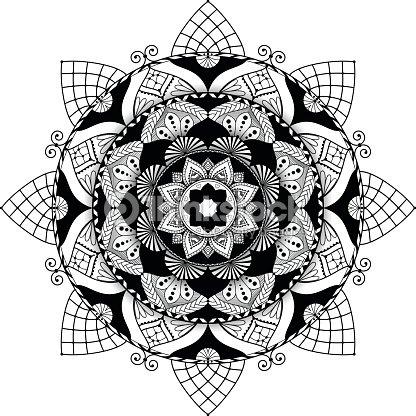 mandala zentangle inspirierte illustration schwarz und wei mit schatten vektorgrafik thinkstock. Black Bedroom Furniture Sets. Home Design Ideas