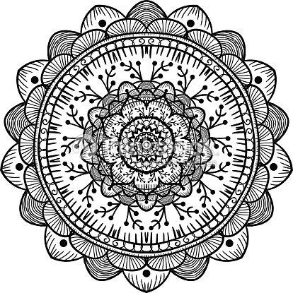 Modèle De Mandala Ligne clipart vectoriel - Thinkstock
