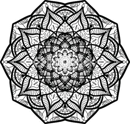 Mod le de mandala ligne clipart vectoriel thinkstock - Modele de mandala ...