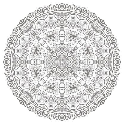 mandala tribal ethnic ornament vektorislamische arabische und indische muster vektorgrafik. Black Bedroom Furniture Sets. Home Design Ideas
