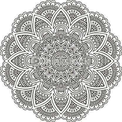 Mandala vector art thinkstock - Muster malen ...